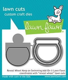 Lawn Fawn REVEAL WHEEL KEEP ON SWIMMING ADD ON Die Cuts LF1957