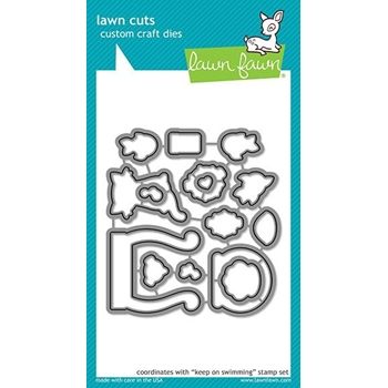 Lawn Fawn KEEP ON SWIMMING Die Cuts LF1956