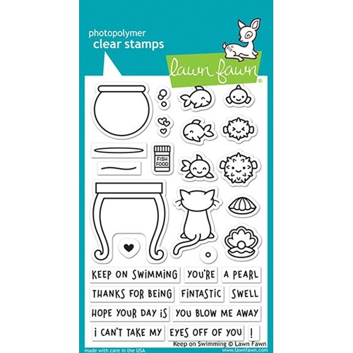Lawn Fawn KEEP ON SWIMMING Clear Stamps LF1955 Preview Image