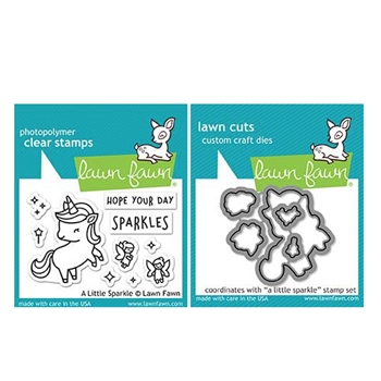 Lawn Fawn SET A LITTLE SPARKLE Clear Stamps and Dies ZLFALS