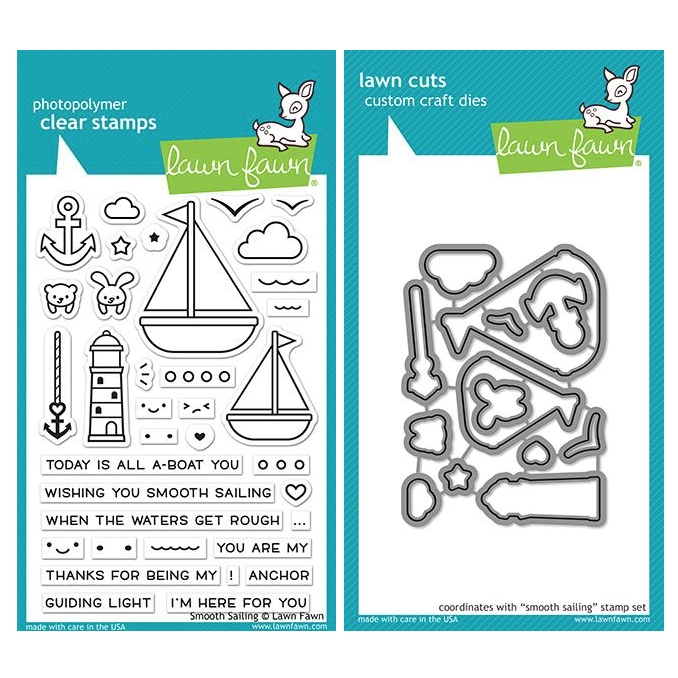 Lawn Fawn SET SMOOTH SAILING Clear Stamps and Dies ZLFSS zoom image