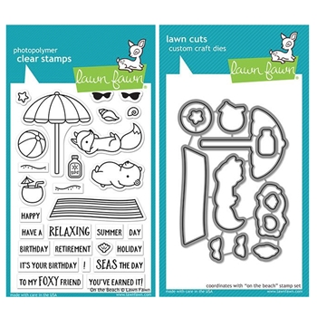 Lawn Fawn SET ON THE BEACH Clear Stamps and Dies ZLFOTB