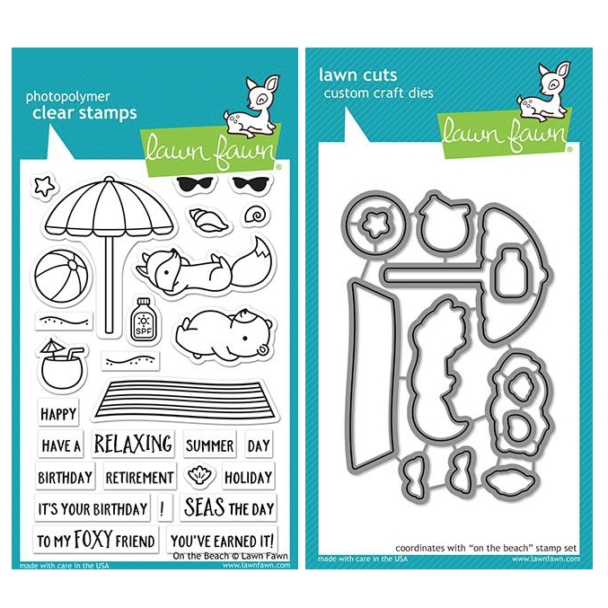 Lawn Fawn SET ON THE BEACH Clear Stamps and Dies ZLFOTB zoom image