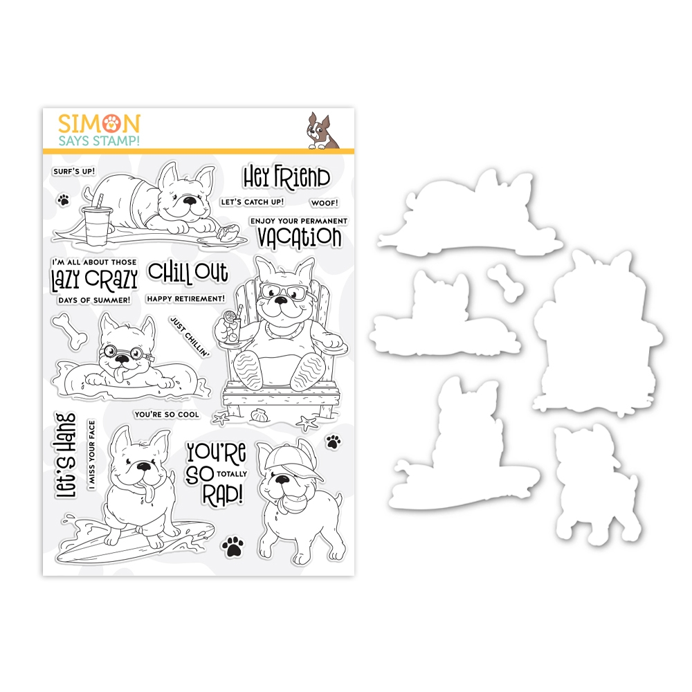 Simon Says Stamps and Dies CHILLIN FRENCHIES set342cf Celebrate You zoom image