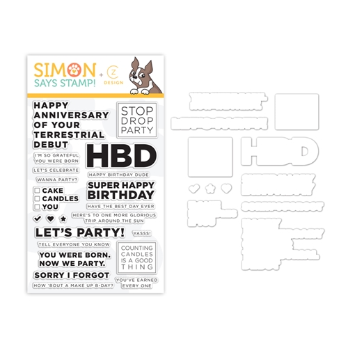 CZ Design Stamps and Dies STOP DROP PARTY set341sdp Celebrate You Preview Image