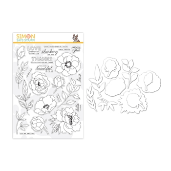 Simon Says Stamps and Dies DELICATE FLOWERS set346df Celebrate You