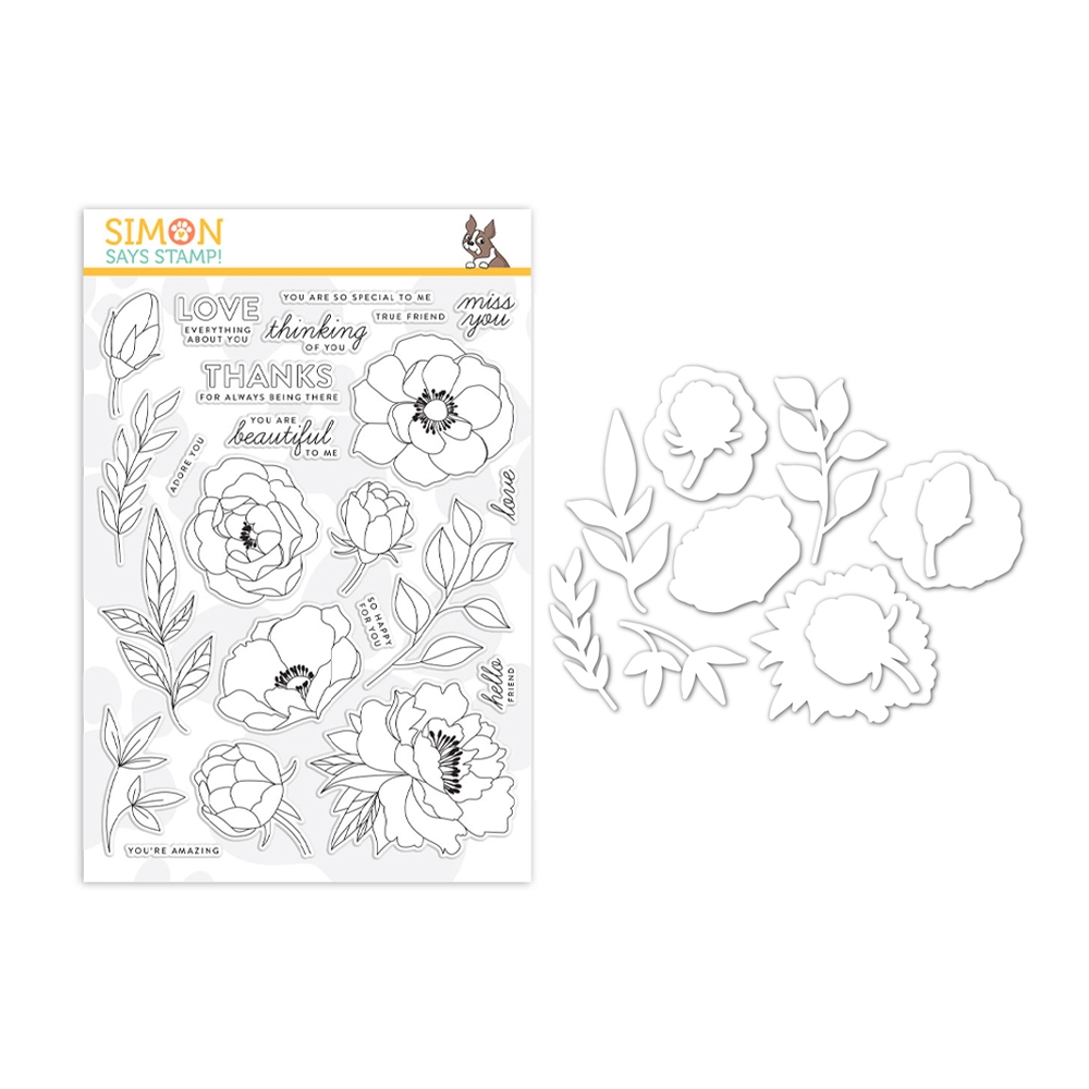 Simon Says Stamps and Dies DELICATE FLOWERS set346df Celebrate You zoom image