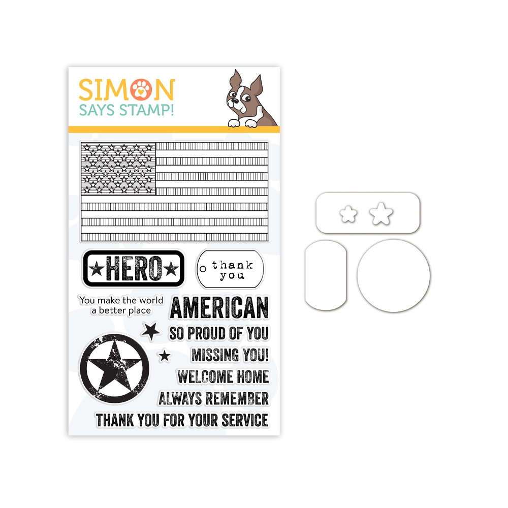 Simon Says Stamps and Dies PATRIOTIC SERVICE set345ps Celebrate You zoom image