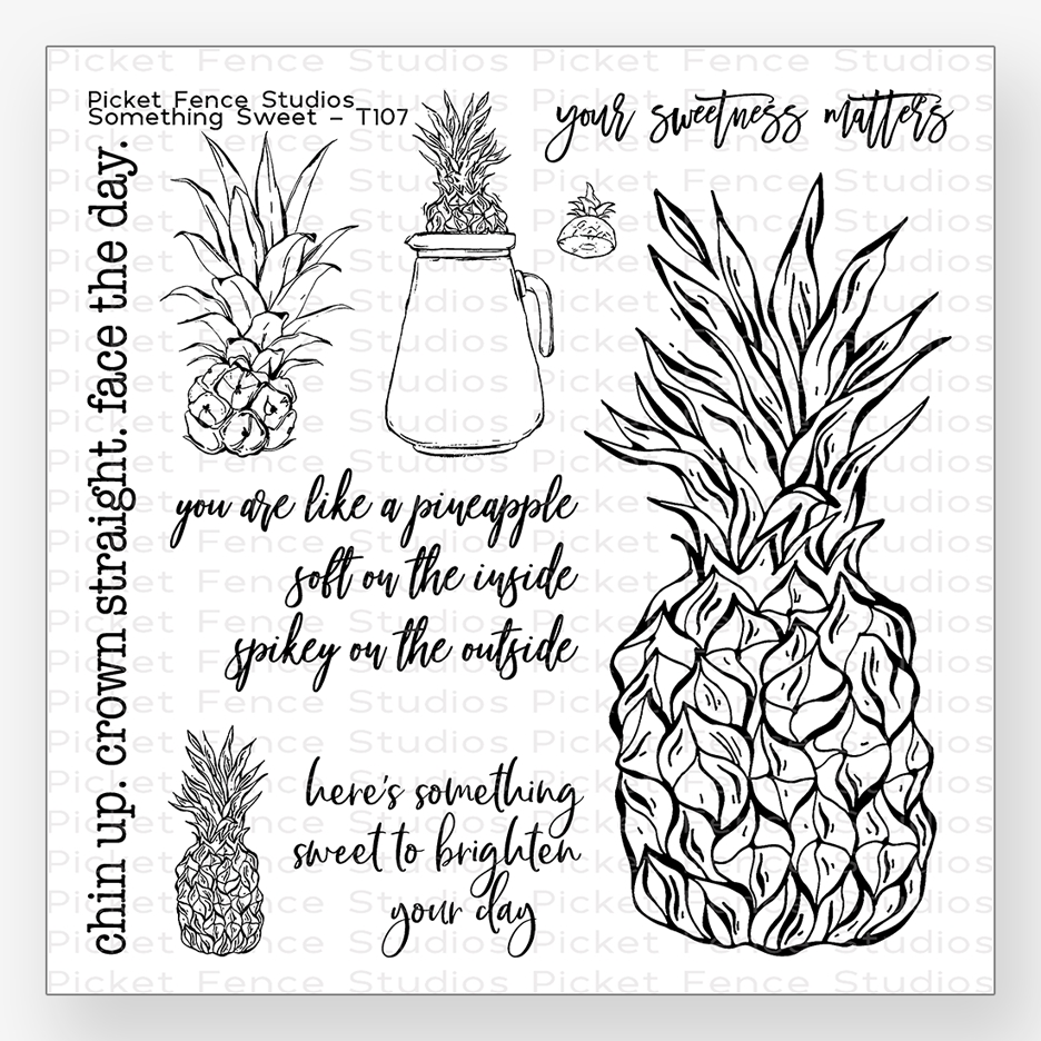 Picket Fence Studios SOMETHING SWEET Clear Stamp Set t107 zoom image