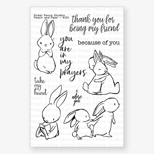 Picket Fence Studios PEACH AND PIPER Clear Stamp Set a125 Preview Image