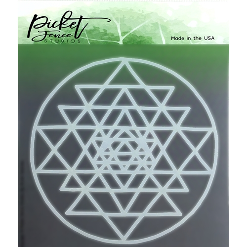 Picket Fence Studios ALL ABOUT THE TRIANGLES Stencil sc114 Preview Image