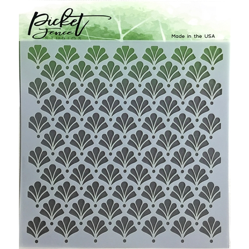 Picket Fence Studios FLORAL DAMASK Stencil sc116 Preview Image