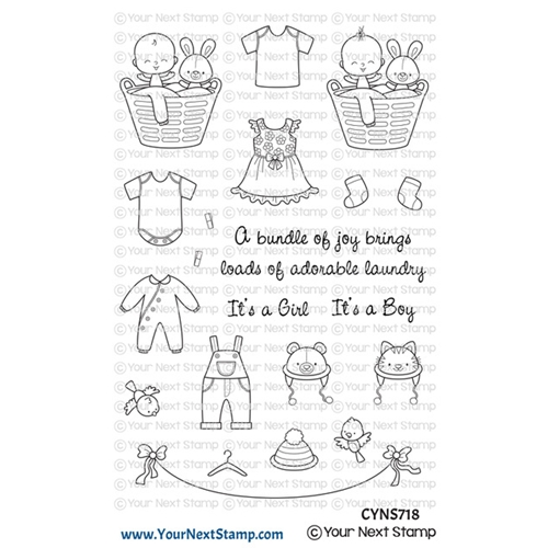 Your Next Stamp BABY CLOTHES LINE Clear cyns718 Preview Image