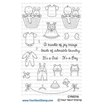 Your Next Stamp BABY CLOTHES LINE Clear cyns718