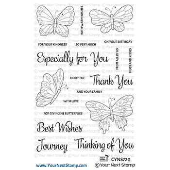 Your Next Stamp BEAUTIFUL BUTTERFLIES Clear cyns720