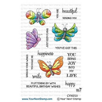 Your Next Stamp SPREAD YOUR WINGS Clear cyns721