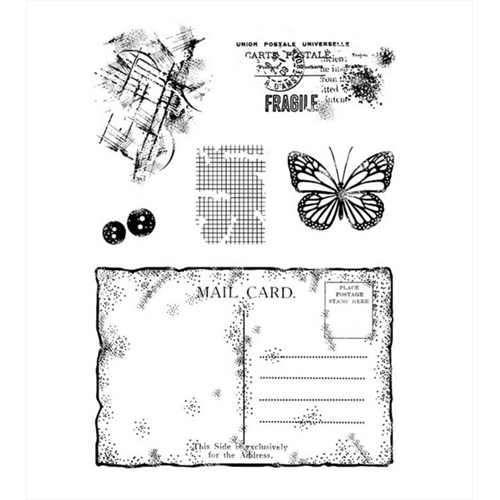 Woodware Craft Collection OLD POSTCARD Clear Stamps frs757 Preview Image