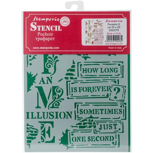 Stamperia TIME IS AN ILLUSION Stencil ksd279 Preview Image
