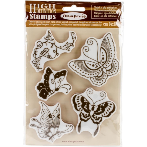 Stamperia BUTTERFLY Cling Stamp wtkcc19 Preview Image