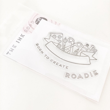 The Ink Road BORN TO CREATE BANNER Clear Stamp Set inkr083