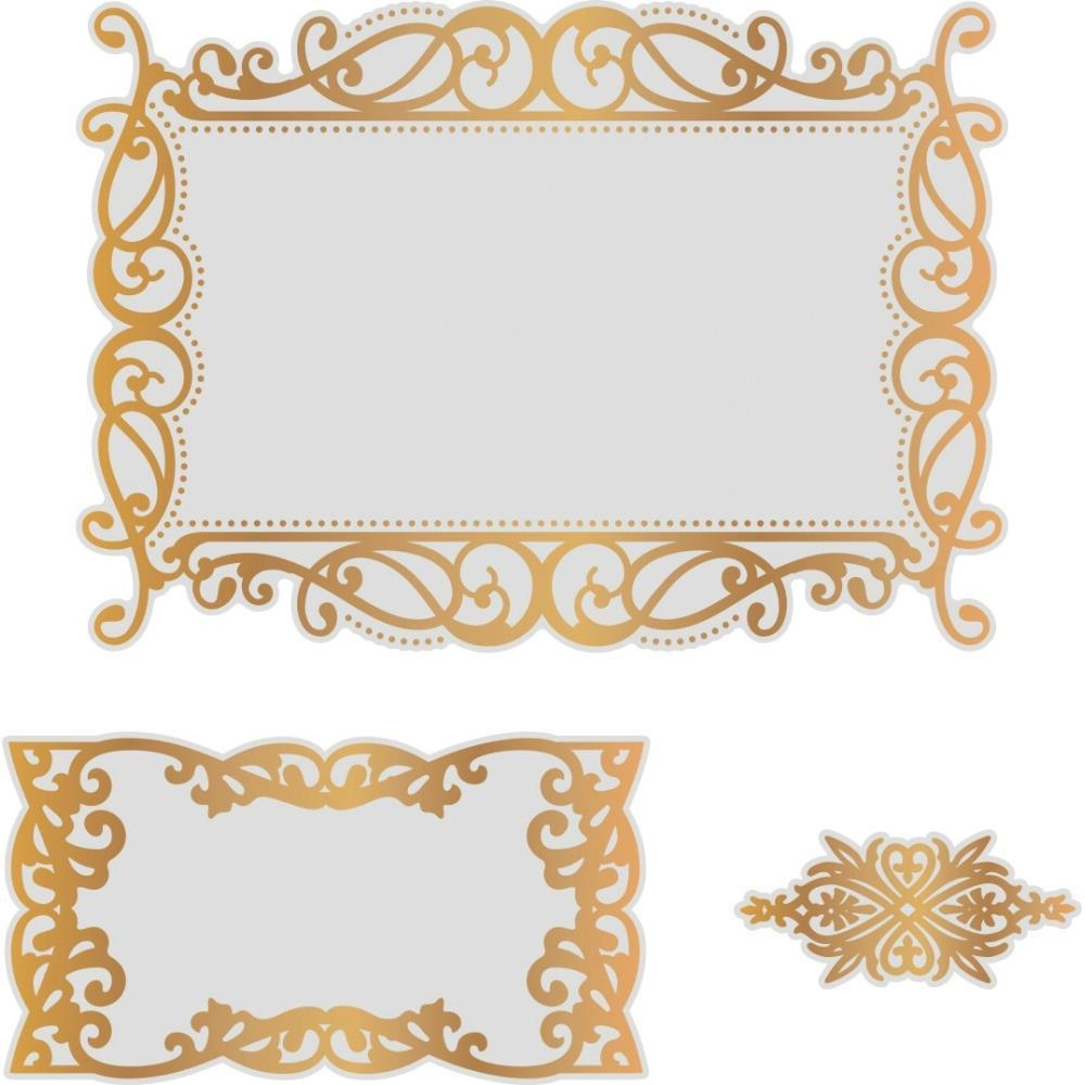 Couture Creations NESTING RECTANGULAR FLOURISHED FRAMES Cut, Foil & Emboss Die co726466 zoom image