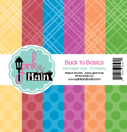Pink and Main 6x6 BACK TO BASICS Paper Pad 025611 zoom image
