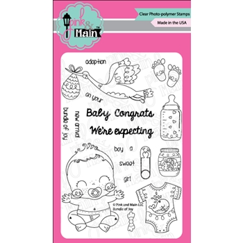 Pink and Main BUNDLE OF JOY Clear Stamps PM0338