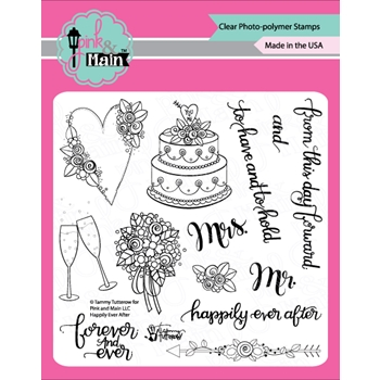 Pink and Main HAPPILY EVER AFTER Clear Stamps PM0340