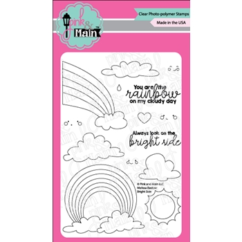 Pink and Main BRIGHT SIDE Clear Stamps PNM0339