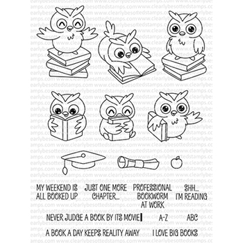 Clearly Besotted WISE OWL Clear Stamps