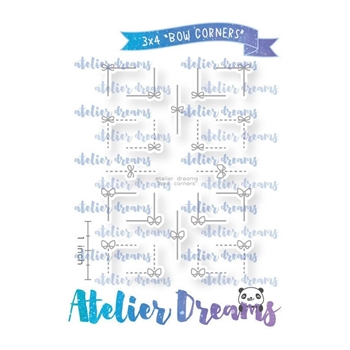 Atelier Dreams BOW CORNERS Clear Stamp Set adg043