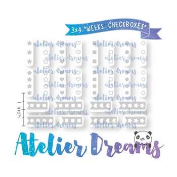 Atelier Dreams WEEKS CHECKBOXES Clear Stamp Set adg042