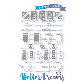 Atelier Dreams SIMPLE BOWS Clear Stamp Set ad094