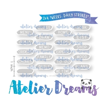 Atelier Dreams WEEKS DAILY STROKES Clear Stamp Set adg041*