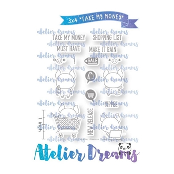 Atelier Dreams TAKE MY MONEY Clear Stamp Set adg045