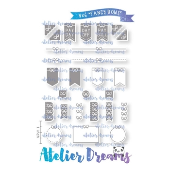 Atelier Dreams FANCY BOWS Clear Stamp Set ad096