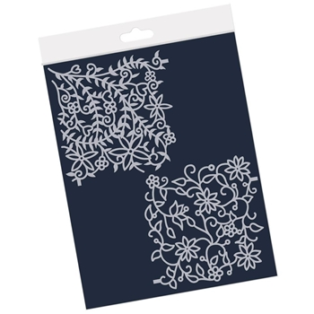 Claritystamp FLORAL FOREST AND FLOURISH 4x4 Frameless Stencil Pair stefl0054044