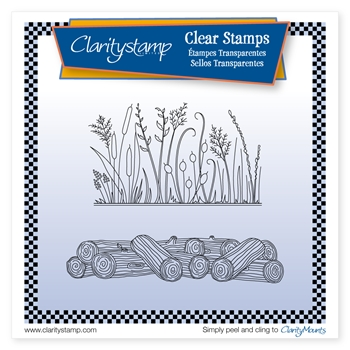 Claritystamp HONESTY AND LOGS Clear Stamp and Mask stafl10679A5