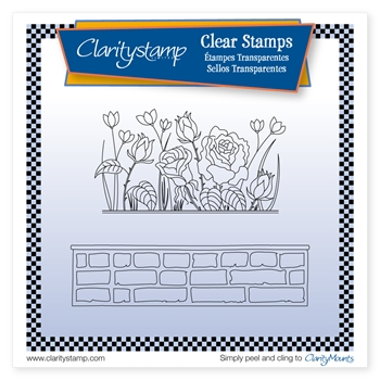 Claritystamp ROSIE AND BRICK WALL Clear Stamp and Mask stafl10676A5