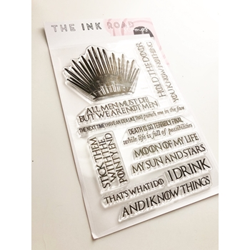 The Ink Road THRONE Clear Stamp Set inkr079