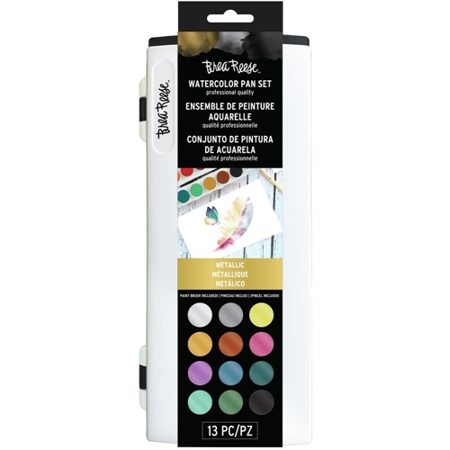 Brea Reese METALLIC WATERCOLOR Pan Paint Set br33337 Preview Image