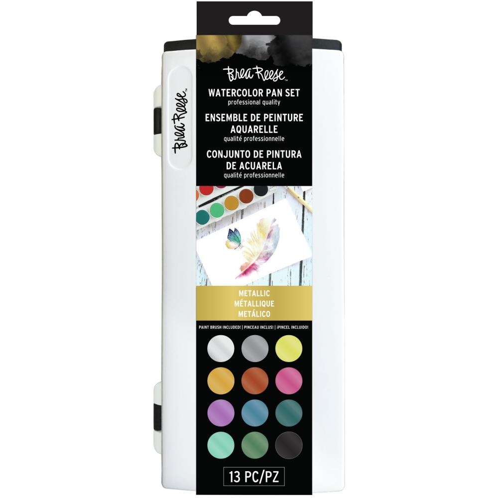 Brea Reese METALLIC WATERCOLOR Pan Paint Set br33337 zoom image