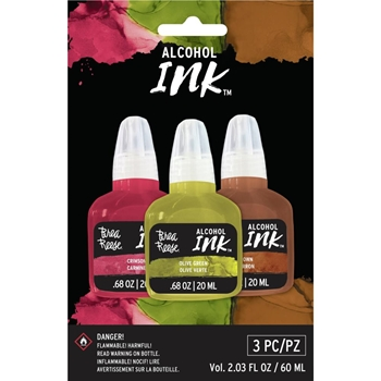 Brea Reese CRIMSON OLIVE BROWN Alcohol Ink Set br35873