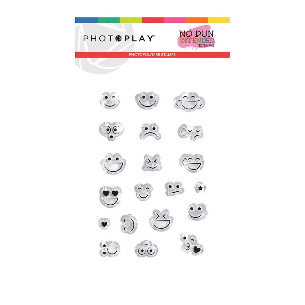 PhotoPlay SMILEY FACES Clear Stamps npi9483 zoom image