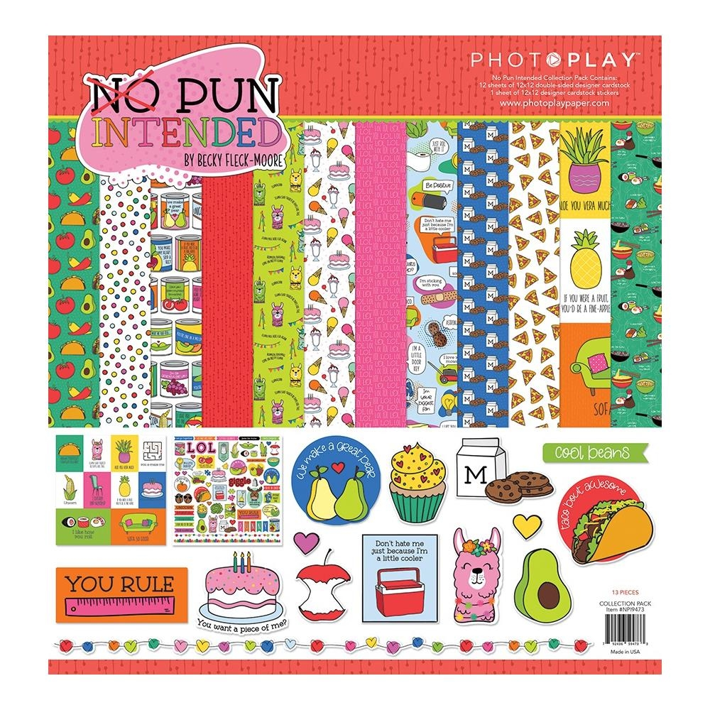 PhotoPlay NO PUN INTENDED 12 x 12 Collection Pack npi9473 zoom image