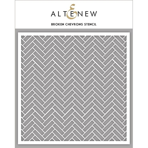 Altenew BROKEN CHEVRONS Stencil ALT3307 Preview Image