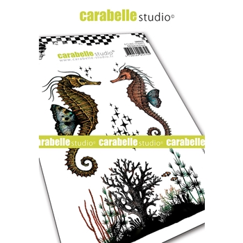 Carabelle Studio SEAHORSES Cling Stamps sa60435
