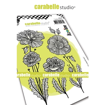 Carabelle Studio HAPPY POPPIES Cling Stamps sa60439