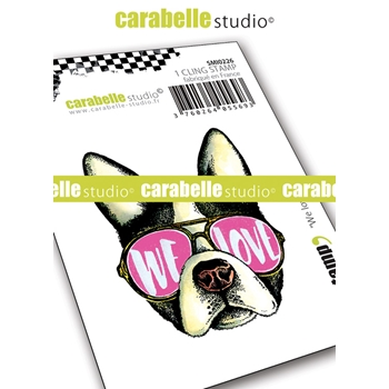 Carabelle Studio WE LOVE Cling Stamp smi0226