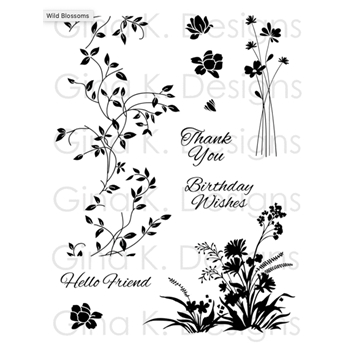 Gina K Designs WILD BLOSSOMS Clear Stamps 0311